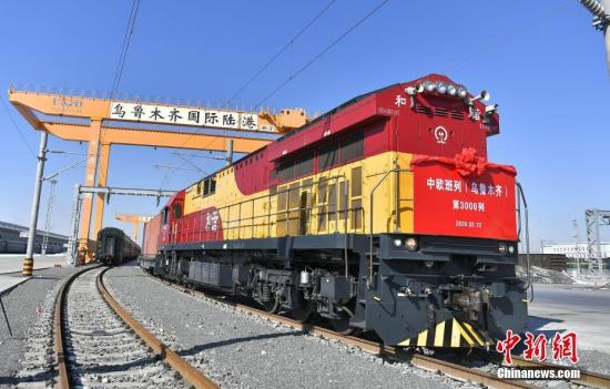 China-Europe freight train number via Xinjiang port hits new